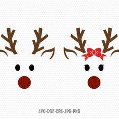 Diy Christmas Cards, Christmas Svg, Christmas Shirts, Christmas Ornaments, Christmas Unicorn, Christmas Recipes, Christmas Ideas, Reindeer Face, Reindeer Craft