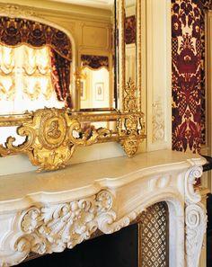Biltmore House- 2nd Floor (1/2)- Louis XV Room- ornate fireplace