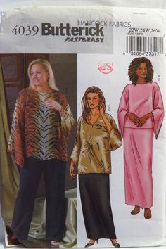 Butterick 4039 Women's/Women's Petite Top, Tunic, Skirt and Pants