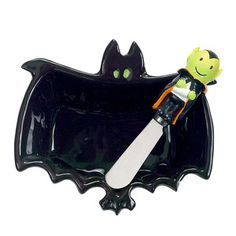 Happy Hauntings Eerie Bat Halloween DIP Bowl Spreader Set by Boston Warehouse Halloween Dip, Halloween Costumes For Kids, Happy Halloween, Halloween Decorations, Halloween Ideas, Halloween Dishes, Halloween Appetizers, Chip And Dip Sets, Thanksgiving