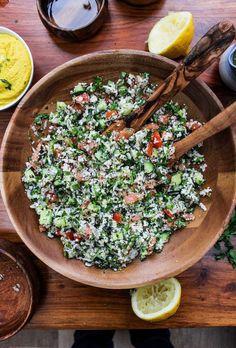 Vegan Cauliflower Tabbouleh