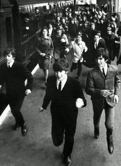The Beatles in 'A Hard Day's Night', 1964.
