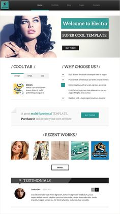 Preview of Electra – our upcoming Premium WordPress Theme
