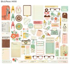 Simple Stories and The Reset Girl Bits & Pieces #simplestories #TheResetGirlScrapbook