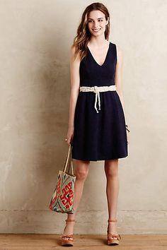 Textured Double-V Dress - anthropologie.com $148