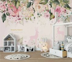 Nordic Peony Flower Wallpaper Mural Floral Wall Mural Printed Wall Art Decals Photo Wall Papers Rolls Bedroom Wall Murals - Картины - HoMe Flower Wallpaper, Of Wallpaper, 3d Wall Murals, Pink Flowers, Peony Flower, Flamingo Flower, Custom Wallpaper, Floral Wall, Bedroom Wall
