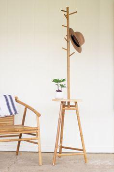 Bamboo Coat Rack Table