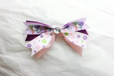 Large Purple and Pink Hello Kitty Hair Bow  Clip by BabyGeneration, $3.50