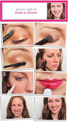 Learn how to get ready for dinner, at your desk with this look!  #eyeslipsface