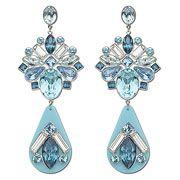 Triumphal Blue Pierced Earrings, Limited Online Edition