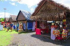 Punanga Nui Market Rarotonga Cook Islands - stalls