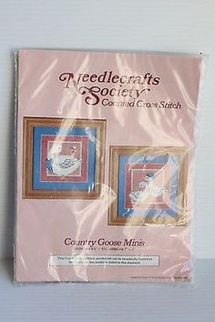 COUNTRY GOOSE MINIS COUNTED CROSS STITCH KIT Needlecrafts Society NIP