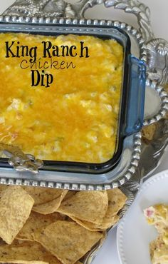 Here is a great dip for when you are looking for an easy appetizer. It is based on the wonderful King Ranch casserole.  Recipe: Source-Cooking with Paula Deen Christmas Issue  1 cup chopped onio...
