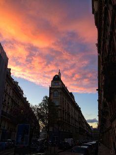 Sunrise in Paris.
