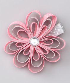 Pink & Gray Clip