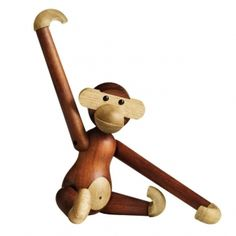 Rosendahl Rosendahl Teak/Limba Monkey by Kay Bojesen - Small Wooden Figurines, Wooden Ornaments, Wooden Toys, Wooden Bird, Decorative Objects, Decorative Accessories, Home Accessories, Design Shop, Toy Monkey