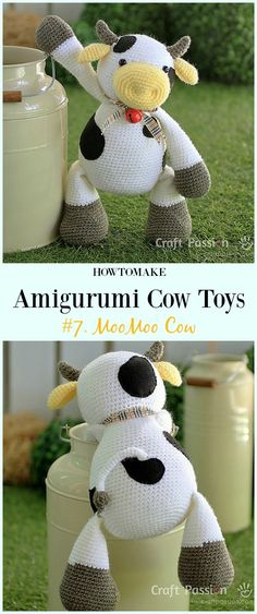 Crochet MooMoo Cow Amigurumi Free Pattern- #Amigurumi #Cow Toy Plushies Free Crochet Patterns