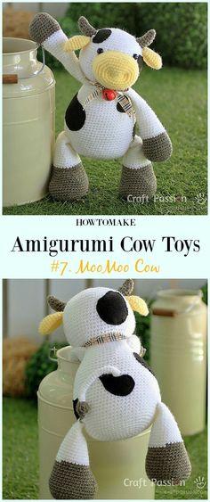 Crochet MooMoo Cow Amigurumi Free Pattern- #Amigurumi #Cow Toy Plushies Free Crochet Patterns