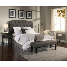 Shop For Republic Design House Peyton Grey Tufted Upholstered Headboard  Benchu2026