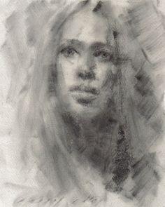 charcoal art | charcoal portrait drawing
