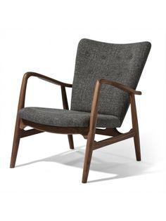 Pierce Lounge Chair -American Walnut/ Grey Tweed