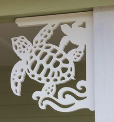 Sea Turtle Corner Bracket at the Emerald Isle Town Hall...Emerald Isle is a turtle Sanctuary so just perfect!