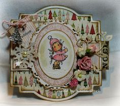 A great way to use a mini stamp by Karen's Fun Blog