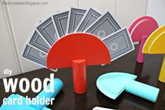 wood card holder