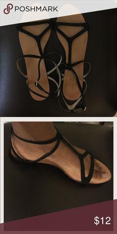 Zara black jeweled flats Zara black jeweled flats. Size EU41 fits US 10 Zara Shoes Sandals