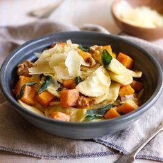 Spinach & Ricotta Agnolotti with Roast Pumpkin, Walnuts and Sage | Pasta recipe ideas for the family