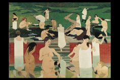 The Bath Summer Evening 1892 Poster by Vallotton Felix. All posters are professionally printed, packaged, and shipped within 3 - 4 business days. Pierre Bonnard, Henri Rousseau, Henri Matisse, Rose Croix, Royal Academy Of Arts, Art Friend, Camille Pissarro, Expositions, Art Moderne