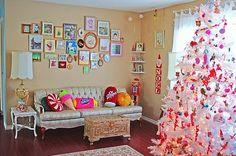 Fun and funky white christmas tree