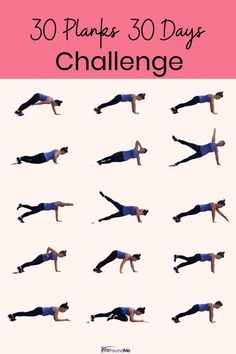 You won't get bored with this 30 day plank challenge that uses a different plank for every day. Strengthen your core in 30 days with this special challenge created with you in mind. This is a great way to stay motivated with the variety found here in 30 planks in 30 days! #plankchallenge #30daychallenge #core #coreworkout #strengthtraining #workoutsforwomen 30 Day Plank Challenge, Belly Challenge, Weight Loss Challenge, Weight Loss Diet Plan, Weight Loss For Women, Weight Loss Program, Thigh Challenge, Core Strength Exercises, Best Fat Burning Workout