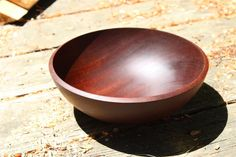 Sapele Mahogany Wood Bowl, Food Safe, Medium Salad Wood Bowl, Hand Turned African Mahogany Wood, Solid Wooden Bowl by SnowDogQuiltWoodwork on Etsy