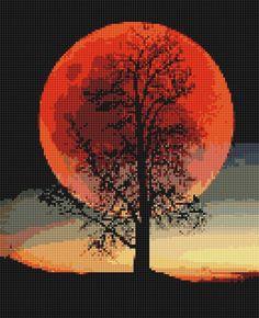 Cross Stitching, Cross Stitch Embroidery, Cross Stitch Designs, Cross Stitch Patterns, Anime Pixel Art, Cross Stitch Landscape, Latch Hook Rugs, Cross Stitch Rose, Needlepoint Patterns