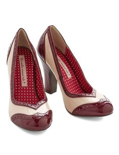 glossy wine and ivory heels http://rstyle.me/n/pfp9rpdpe