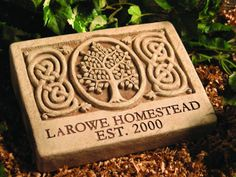 Find more cool Irish Gifts via http://www.AmericasMall.com/shopirish-creative-authentic-irish-gifts #irishgifts #gifts #shopirish Personalized Celtic Tree Engraved Stone - Shop Irish