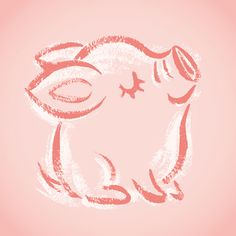 Happy pig by Toru Sanogawa, via Behance