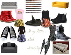 """""""Harry Potter Girls Dormitory"""" by gagachacha9 ❤ liked on Polyvore"""