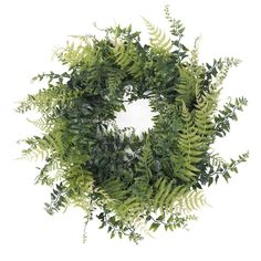 "Beverly 24"" Faux Fern and Grass Wreath"
