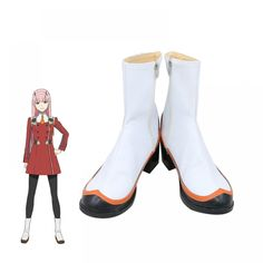 DARLING in the FRANXX Strelizia ZERO TWO Cosplay Shoes Ankle Boot Anime TV