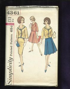 1960's  Simplicity  4362 Luncheon Outfits for Ladies by MrsWooster