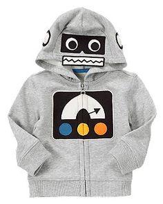 Fleece Robot Hoodie