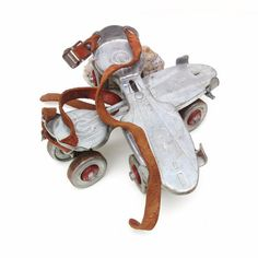 Vintage Metal Roller Skates Adjustable Leather by #WhimzyThyme #etsy #tvteam #virtuosoetsy