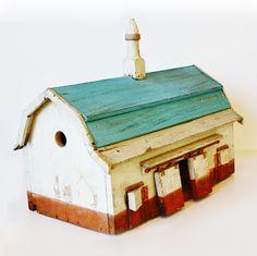 Antique Folk Art Rare Original Barn BirdHouse. From ParisCoutureAntiques