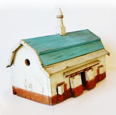 Antique Folk Art Rare Original Barn BirdHouse. From ParisCoutureAntiques