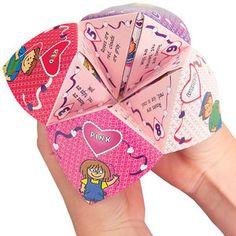 Valentine Fortune Teller - the kids love these!!
