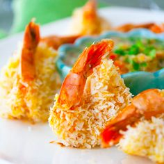 Baked Coconut Shrimp with Citrus Salad by healthyseasonarecipes #Salad #Shrimp #Healthy