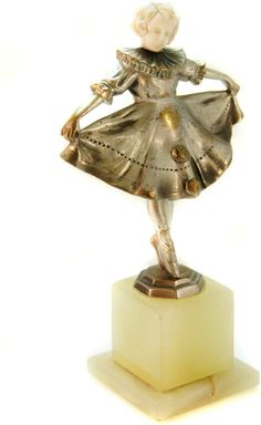 Signed Josef Lorenzl Ballerina on Marble Pedestal