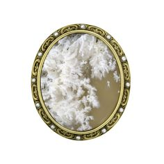 Edwardian white plume agate pin/pendant, circa 1915